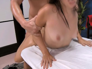 Beautiful brunette spread out gets picked more together with screwed steadfast
