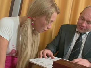 Horny older teacher is seducing hottie's lusty beaver