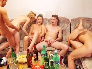 Check out this fantastic fuckfest sex porn coupling with horny students banging each other at college party