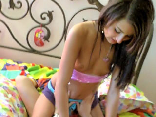 Two hot and nice teens get fucked unconnected with big cock at yard