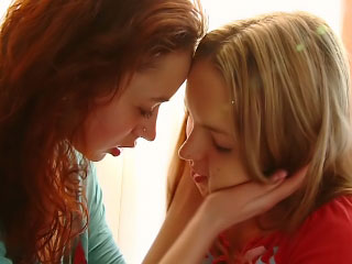 Pure beloved girls secretly hallow passionate lesbian licks