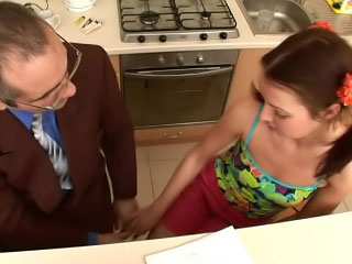 Dirty old fart screwing beautiful and horny mart youthful