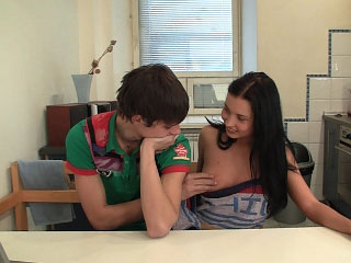 Magnificent brunette girl gets picked up and screwed hard