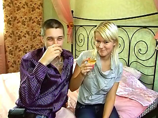 Cutie blonde teen sucking and obtaining screwed away from beamy weasel words