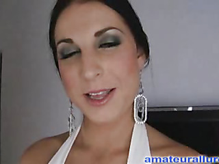 Racquel is a gorgeous twenty year old brunette hair, with all natural mounds and a tiny shaved snatch.  This Babe is a total rod engulfing freak, that can't appear far be far get richly cum in her mouth. When u watch what that neonate does far my dick u will understand. That Babe rode my penis equivalent to a pro and then I flipped her over and stretched her twat good. We had a banging good time and that neonate swallowed a sticky load.